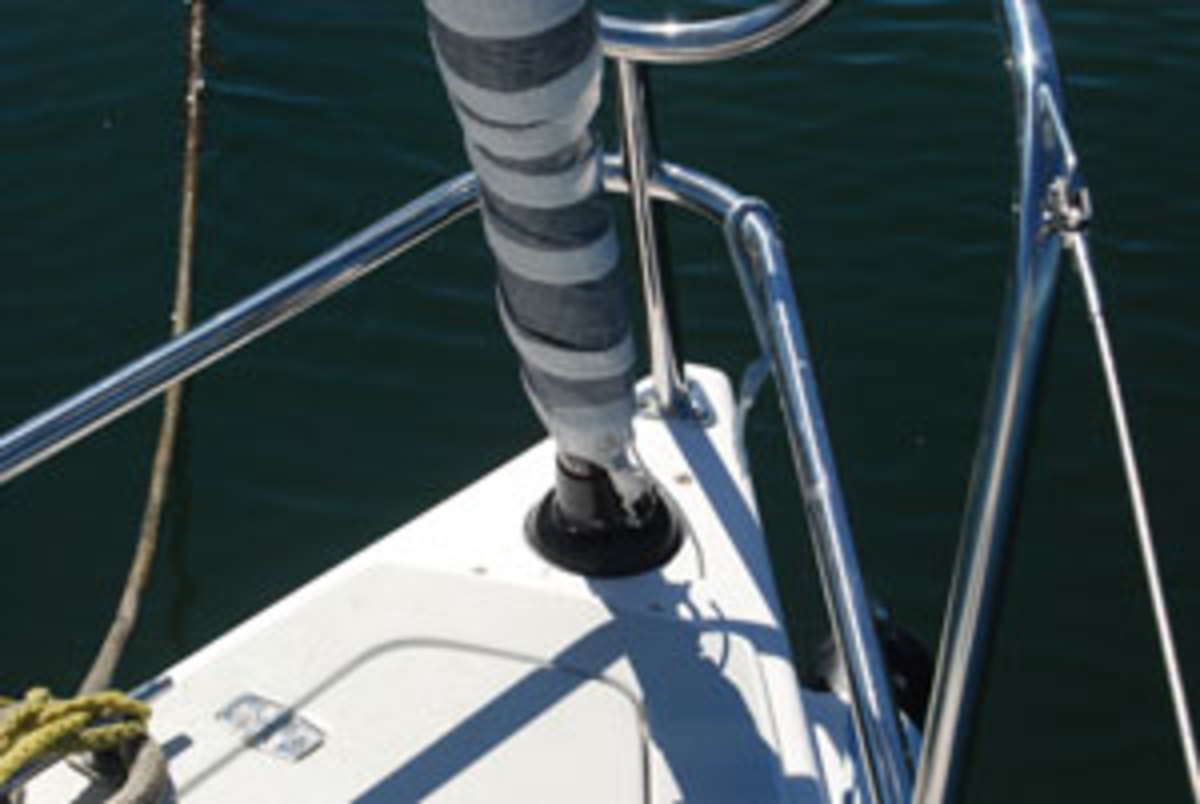 Harken below the deck jib furler