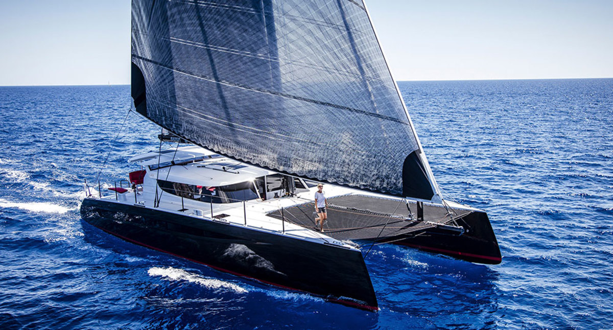 Fast, carbon fiber catamaran takes center stage at Cannes