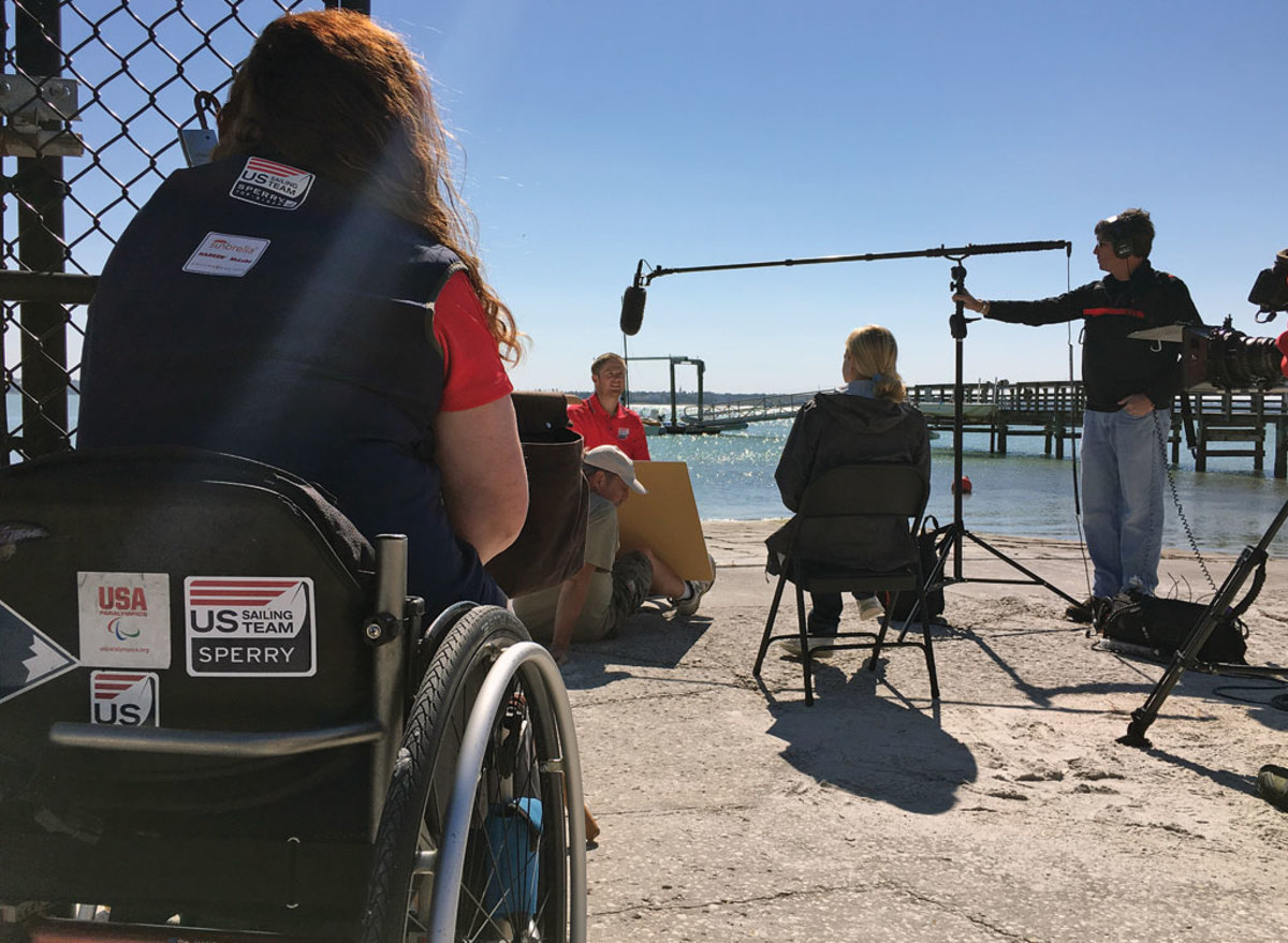 Production for a film on adaptive sailing will be wrapping up shortly after the Paralympics