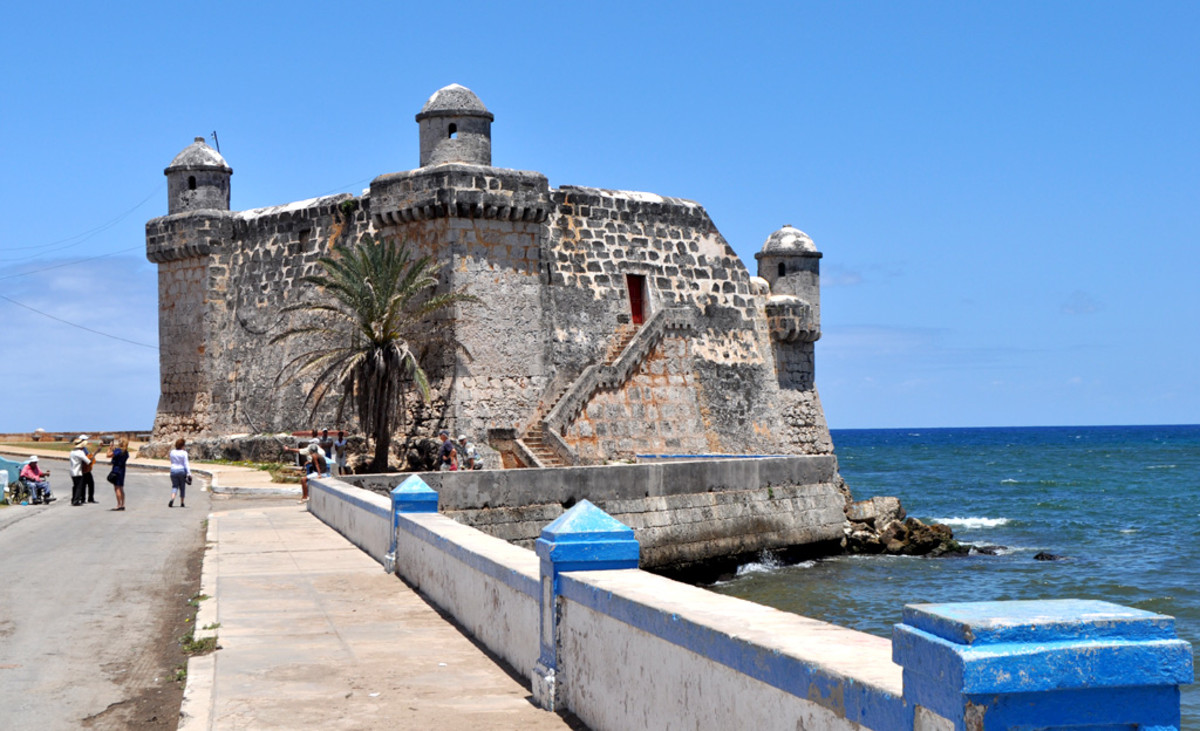 The fort at Cojimar on Cuba's waterfront dates back to the 17th century