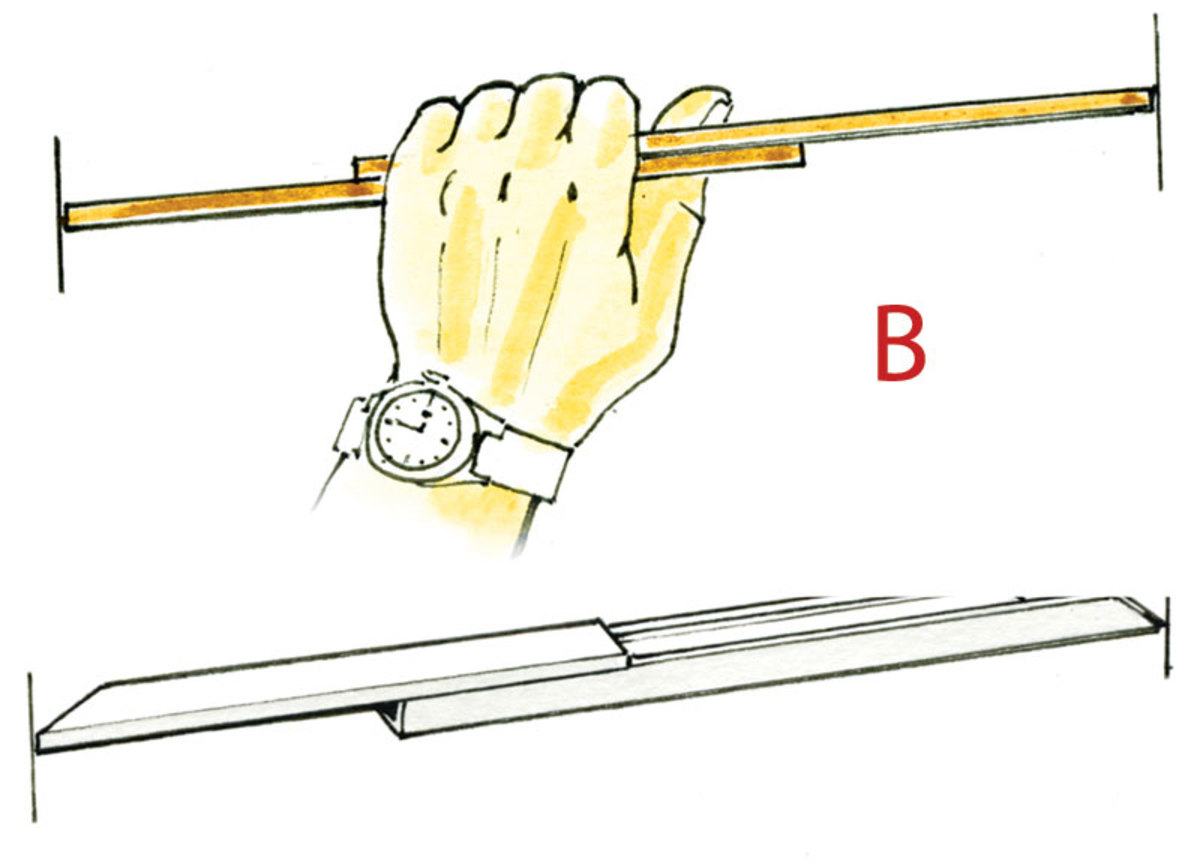 B. It's easier to take internal measurements with two sticks held in your hand, or take a piece of plastic conduit with a snap-on top that slides with a stiff action that holds it in place.