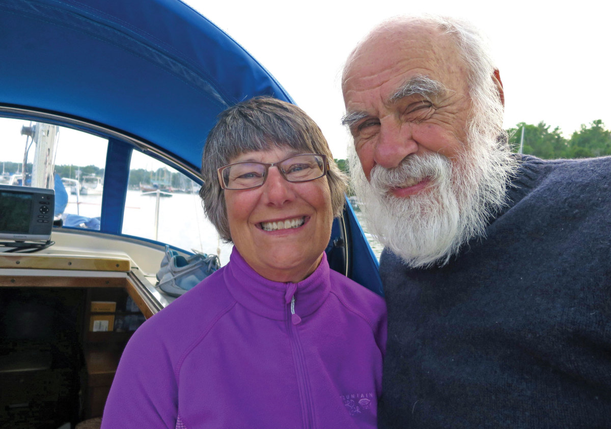 The author and his wife enjoying the cruising life