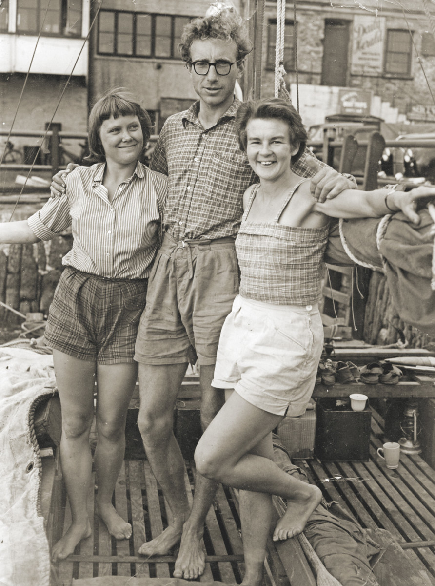 Wharram, Jutta and Ruth before their groundbreaking voyage