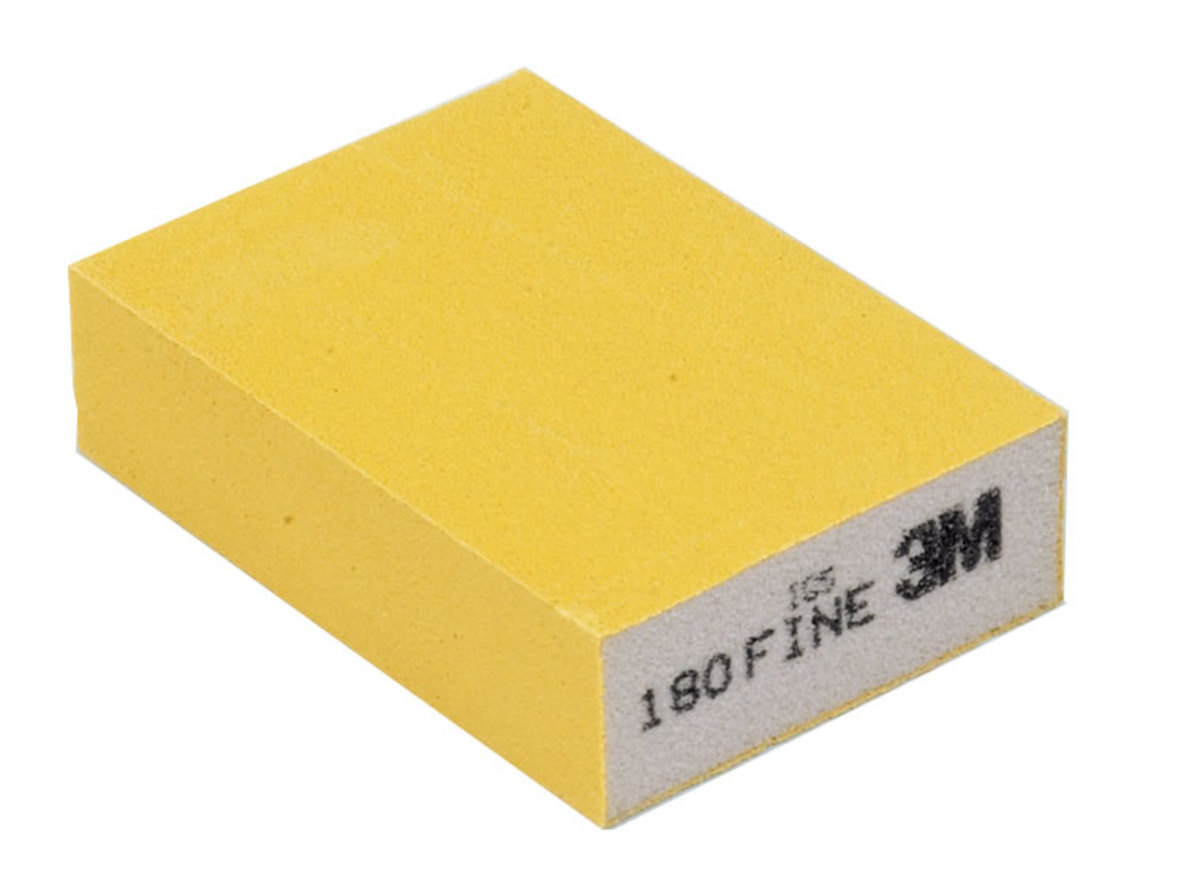A sandblaster sanding sponge will work on wet or dry surfaces