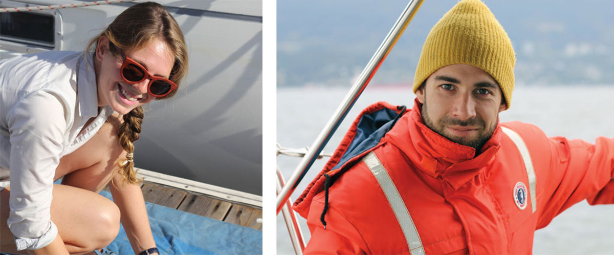 Fiona is all smiles as she handles some of her captain duties (left); Robin strikes a very captain-esque pose (right).