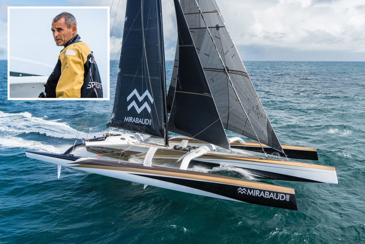 Spindrift 2, campaigned by Yann Guichard, is the biggest of the Ultimes