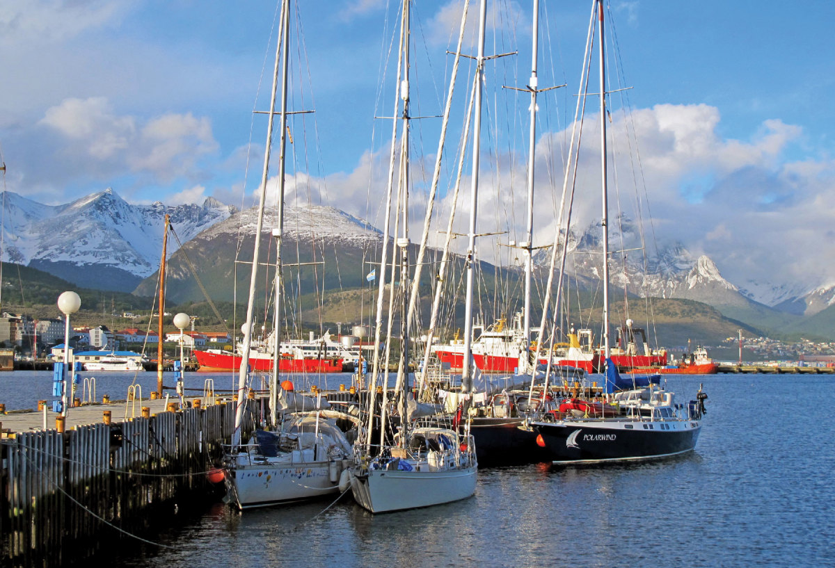 The Argentinian port of Ushuaia in the heart of Tierra del Fuego. Photo courtesy of Paul Heiney