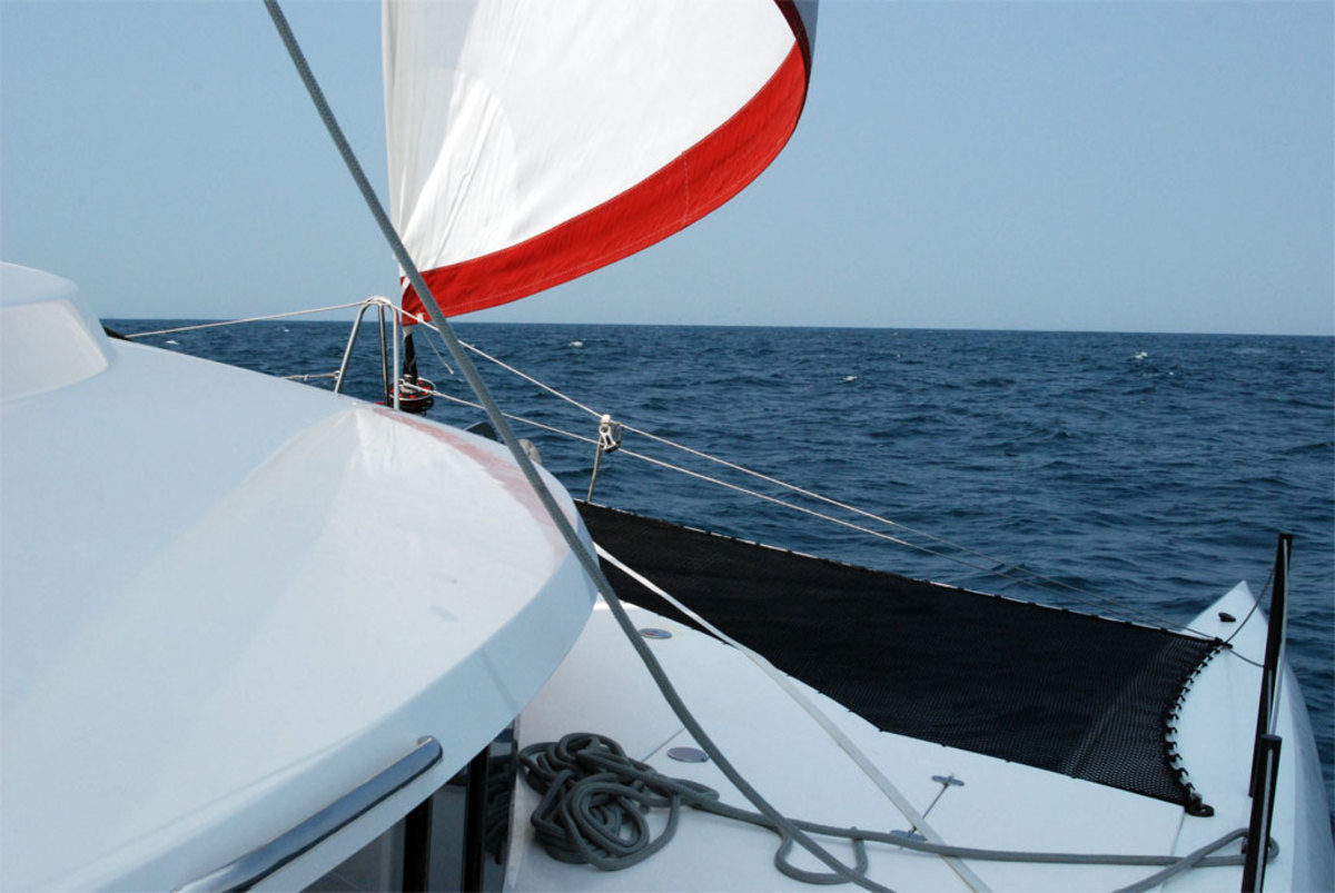 The Neel 45's roller-furling genoa provided plenty of power for speeds of 9-plus knots, even in only moderate conditions