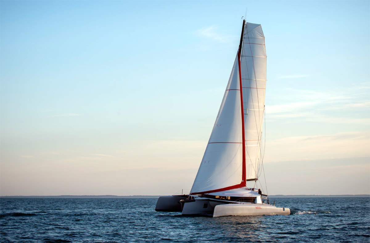The crew clicks off the miles under genoa and main in ideal conditions