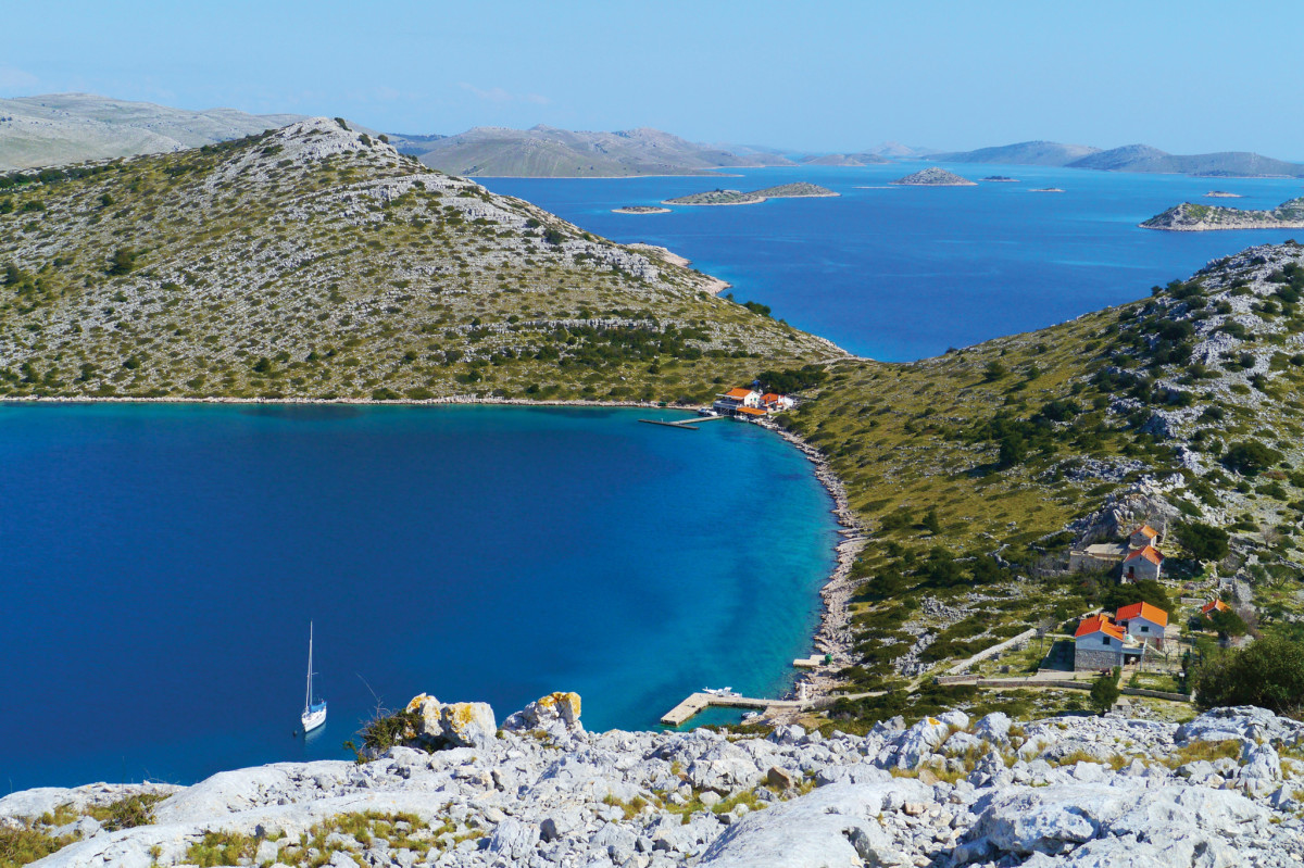 The Kornati islands are a highlight of cruising in Croatia.