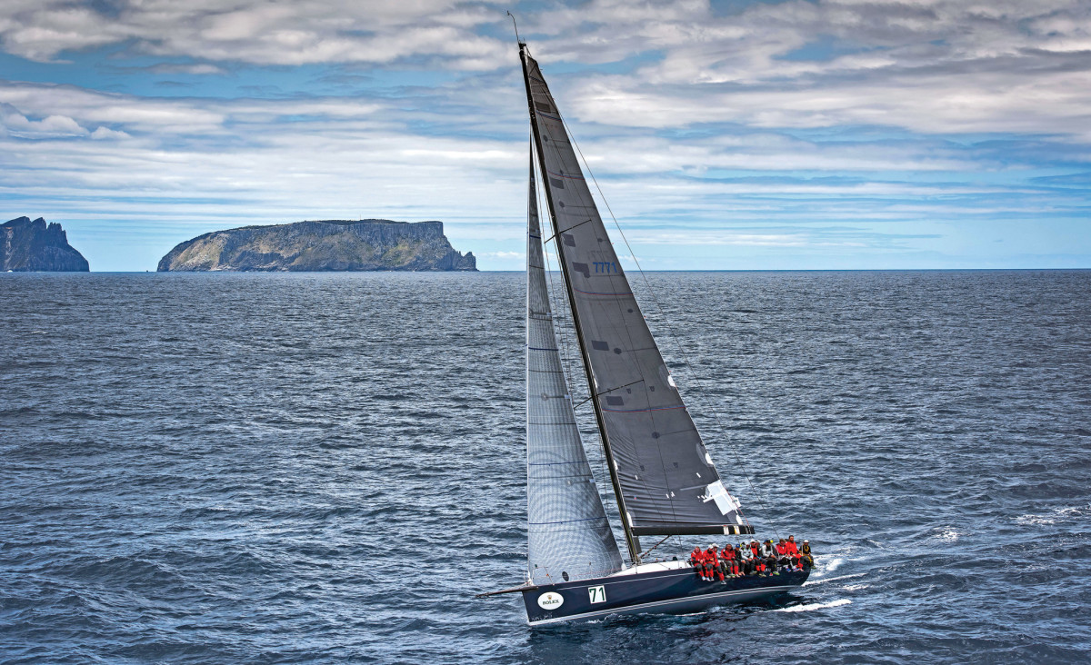 Overall winner, Balance, in the home stretch off Tasmania. Photo by Rolex/Carlo Borlenghi