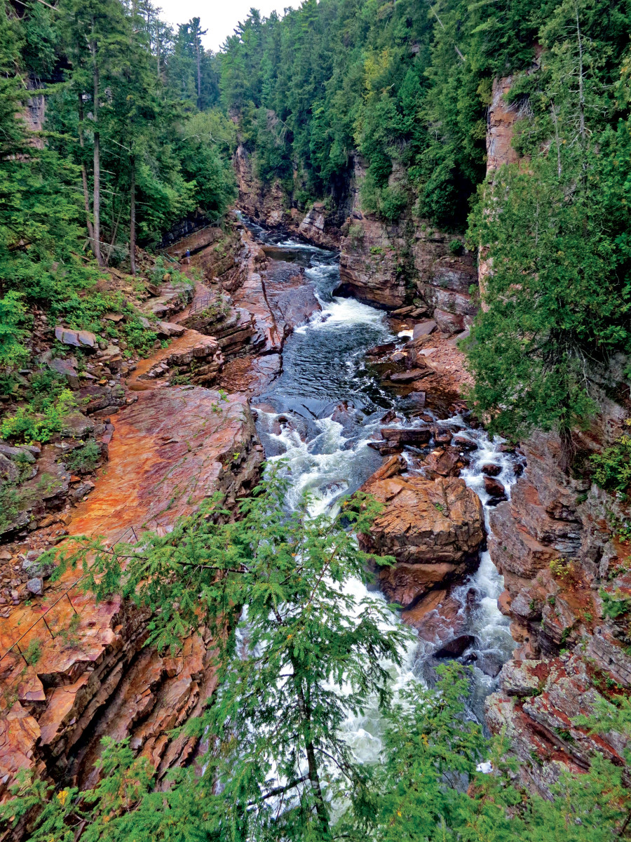 sights like Ausable Chasm in Keeseville, New York, dot the rugged countryside