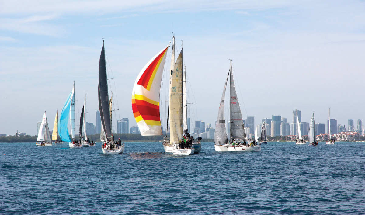 The fleet sets out from Miami for once-forbidden Havana.