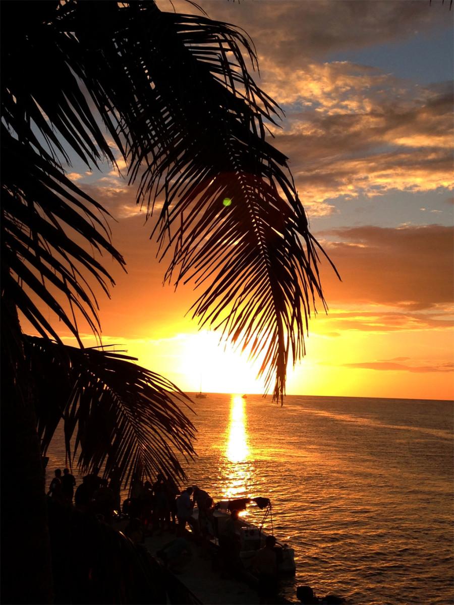 Sunset over Caye Caulker, Belize. Photo courtesy of Samantha Beddoes