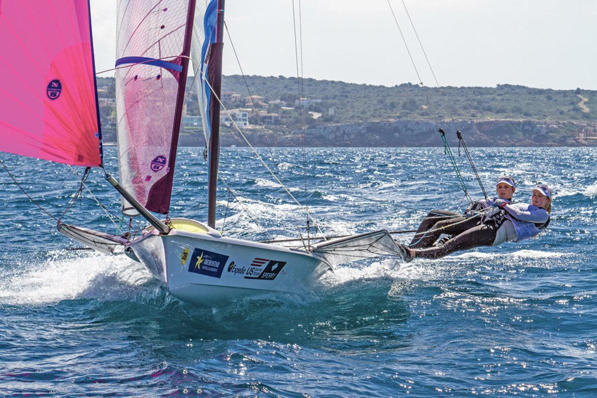Paris Henken and Helena Scutt will compete in the 49erFX class