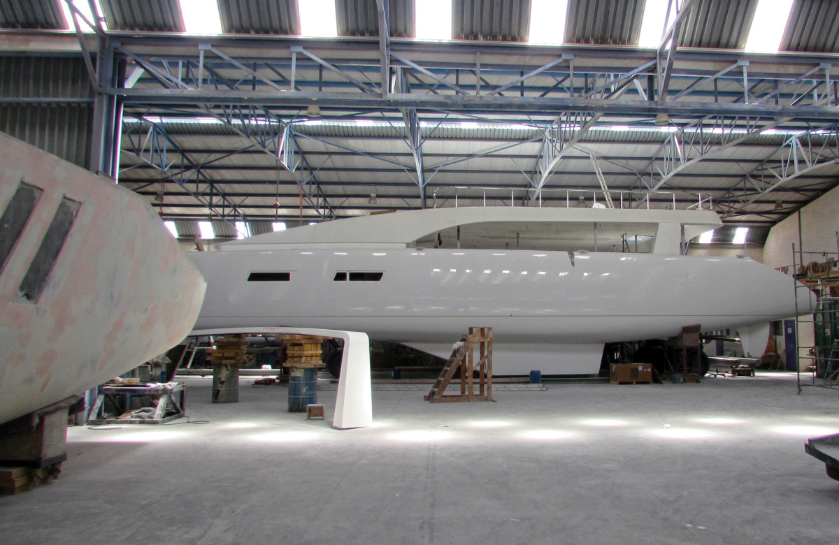 A look inside the factory at Matrix Yachts shows a big build almost ready to launch