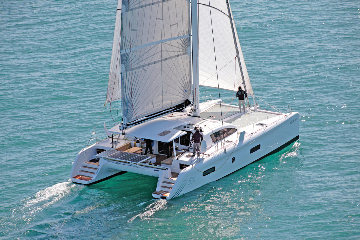 The Lagoon 52 boasts a wealth of lounging space. Photos courtesy of Outremer