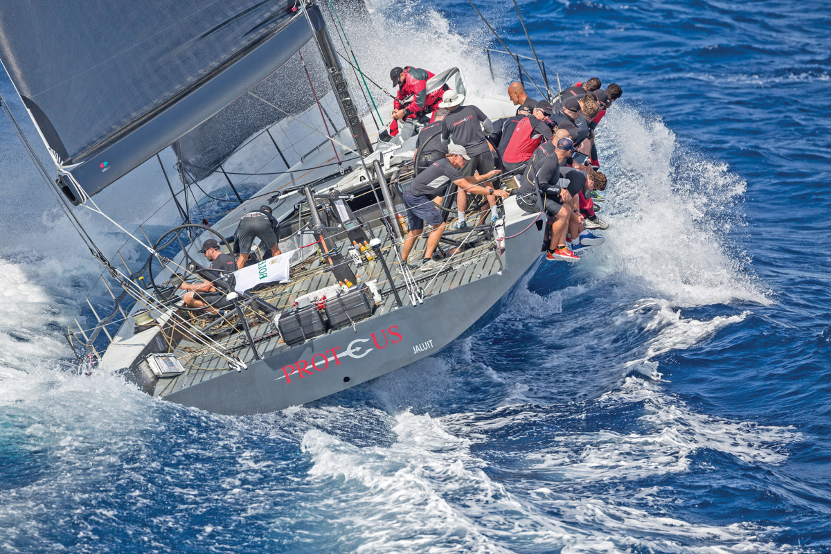 Proteus is one of three Maxi 72s that will undoubtedly be among the first boats to finish in Bermuda