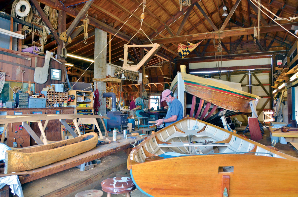 The working shed at the Chesapeake Bay Maritime Museum