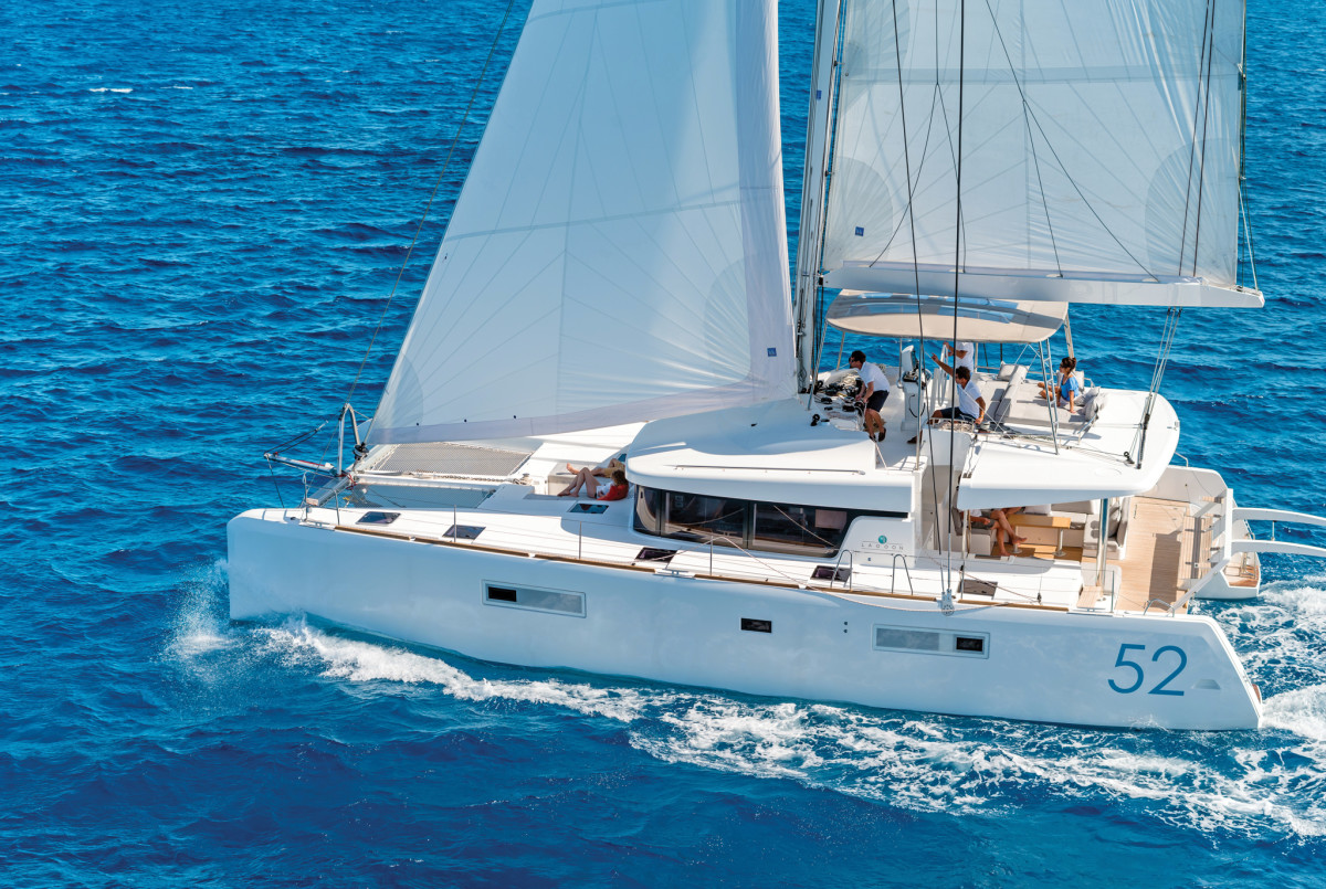 The Outremer 5X offers a nice combination of speed and top-flight accommodations. Photo courtesy of Lagoon
