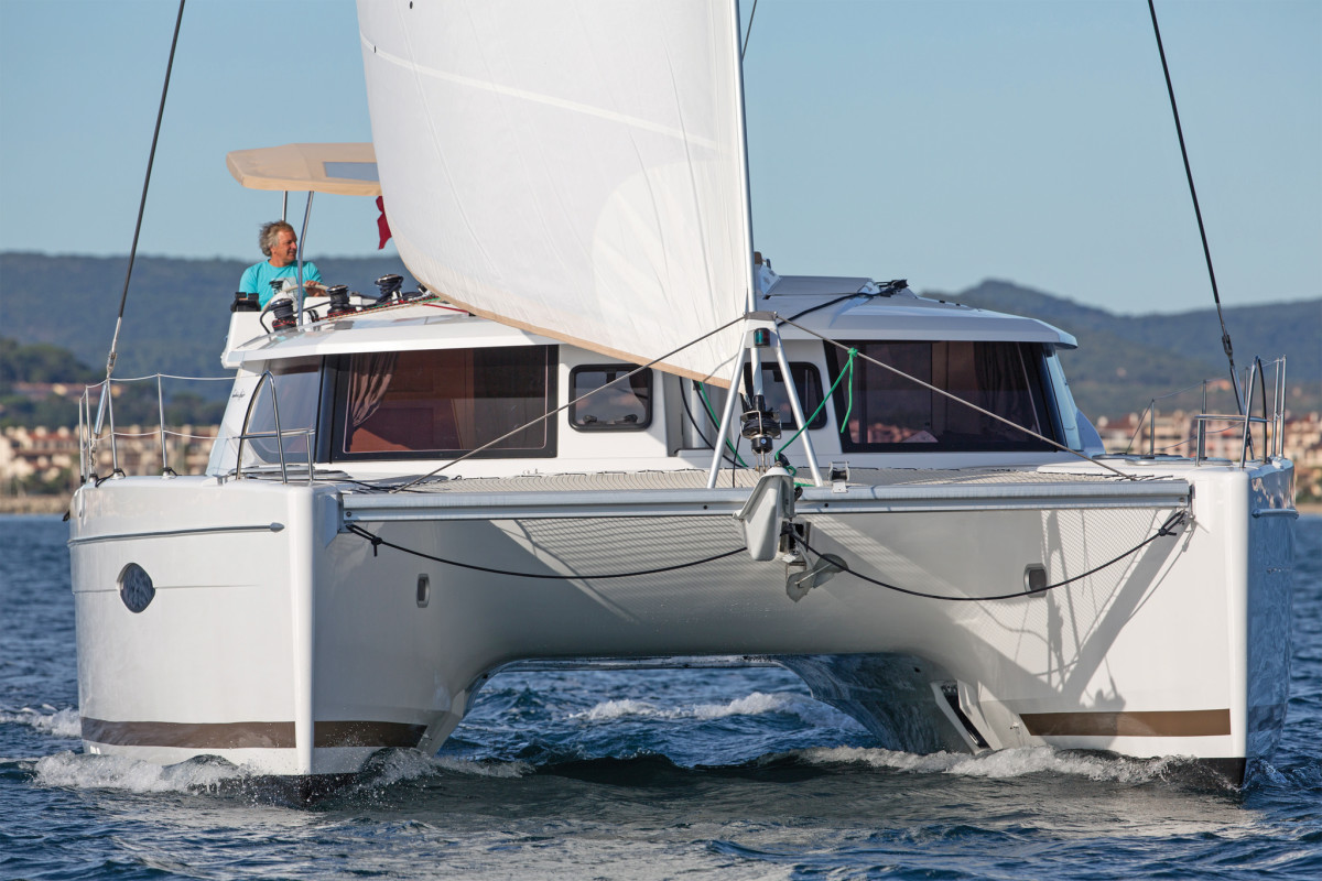 A low underwing clearance can hamper boatspeed in a seaway. Photo courtesy of Fountaine Pajot