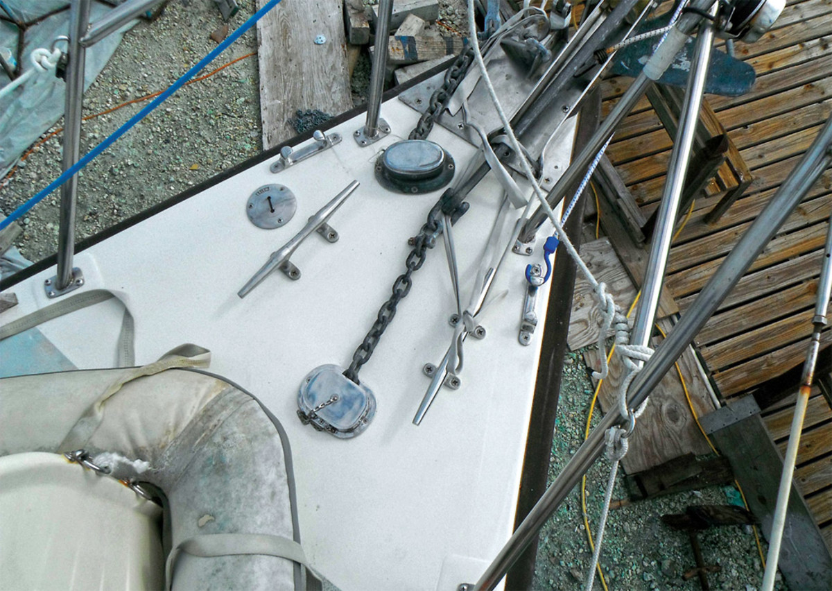 The foredeck is good as new