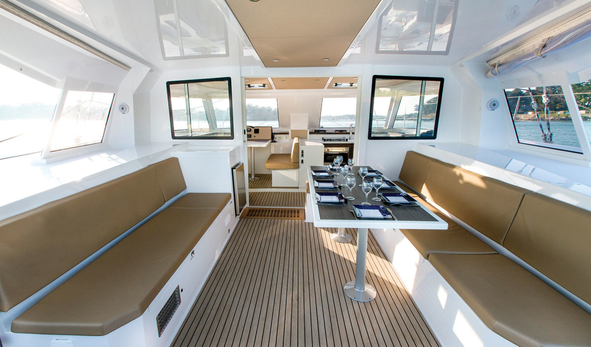 The cockpit is the real social center of the boat