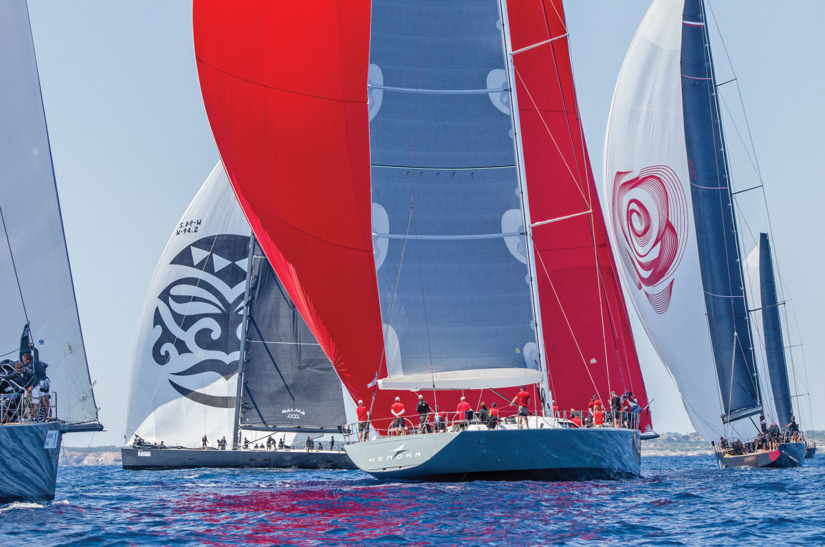 Plenty of LOA and acres of sailcloth at last year's Maxi Yacht Rolex Cup. Photo courtesy of Rolex SA
