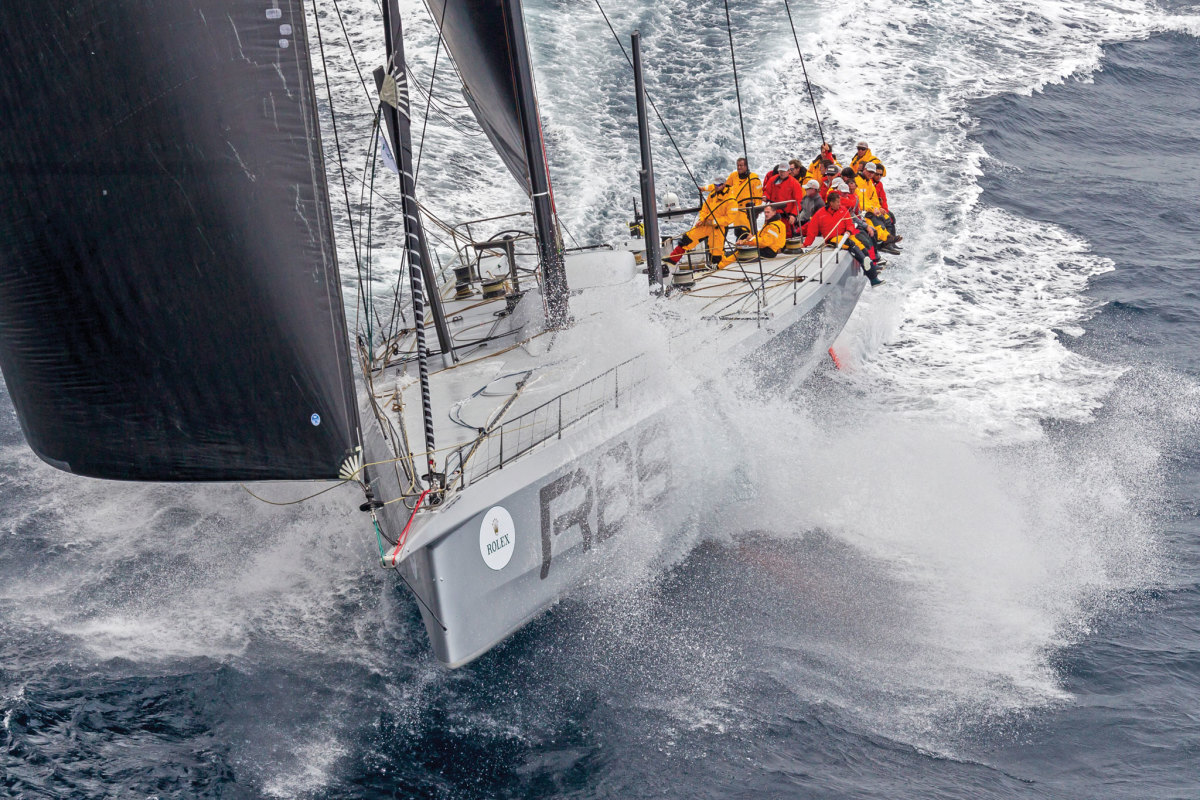 Rambler 88 power-reaches south during the heavy-air 2015 Rolex Sydney Hobart Race. Photos courtesy of Rolex SA