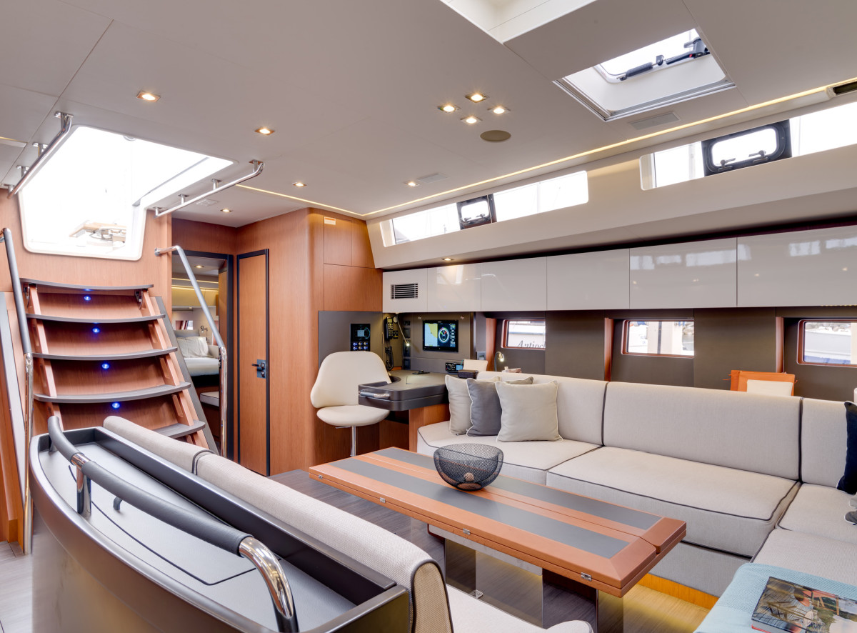 The saloon boasts plenty of space, as befits a luxury cruiser of this size