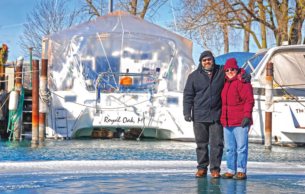 Winter aboard for Chuck and Margi at the Detroit Yacht Club