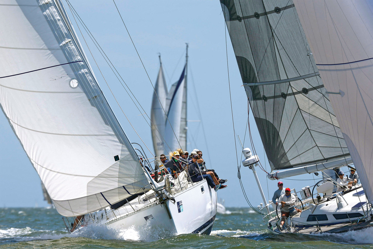 You couldn't ask for better sailing than off Charleston Harbor this past April