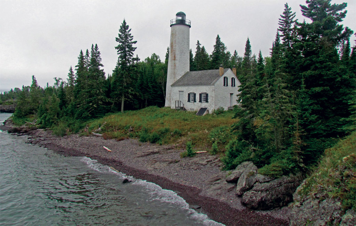 The Rock Harbor light is one of many marking Isle Royale's hazards