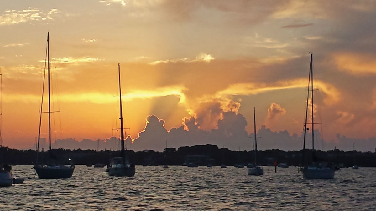 I took this shot from the Dinner Key Mooring Field in Coconut Grove, Florida. —James Noland