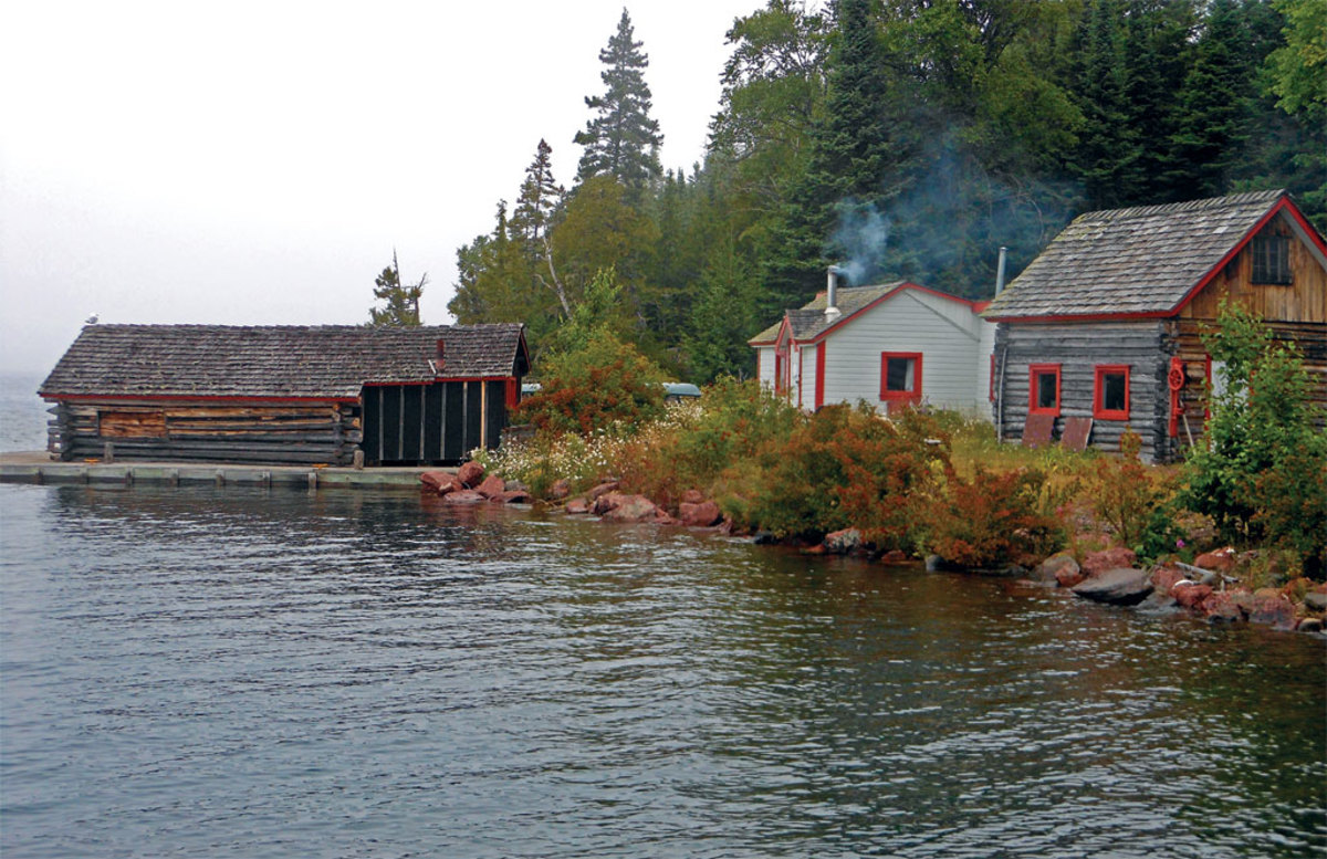 The Edisen Fishery, now a historic site, serves as a testament to Isle Royale's economic past