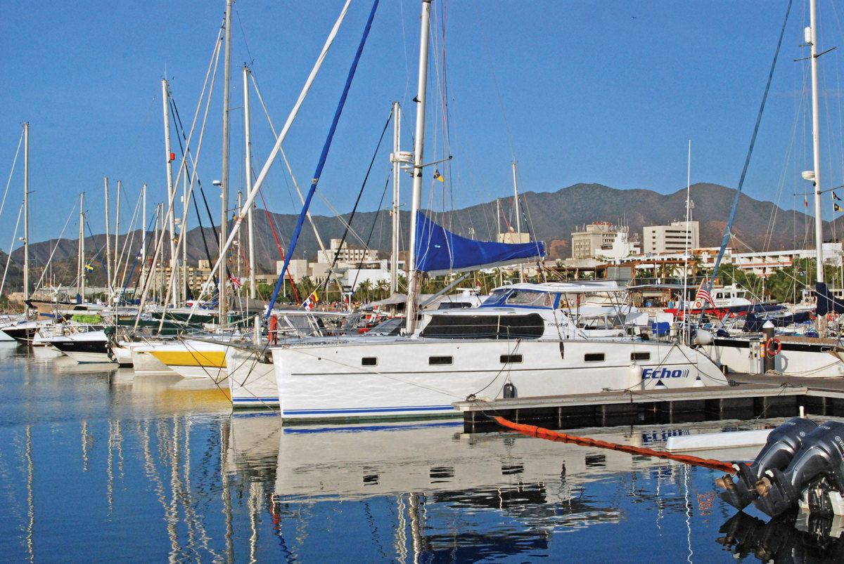 The marina in Santa Marta is clean and fully modern.