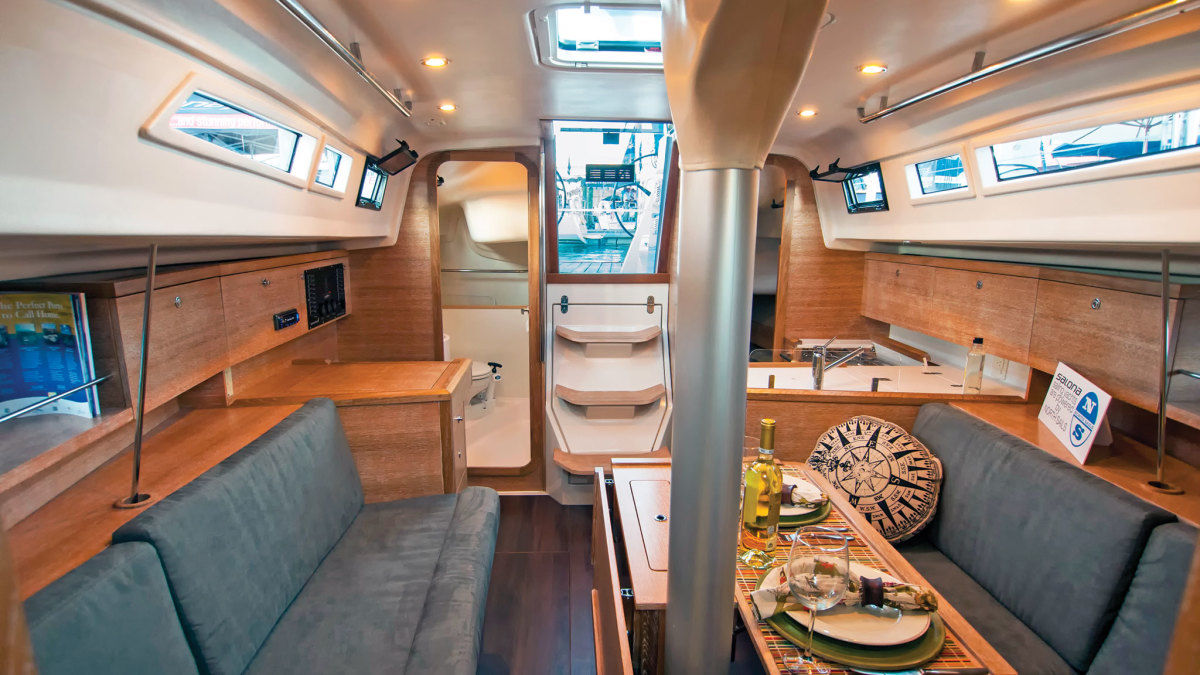 Despite its slick exterior, the Salona 33 is very roomy below