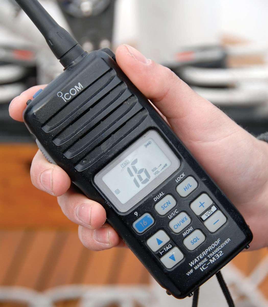 A handheld VHF is a useful backup