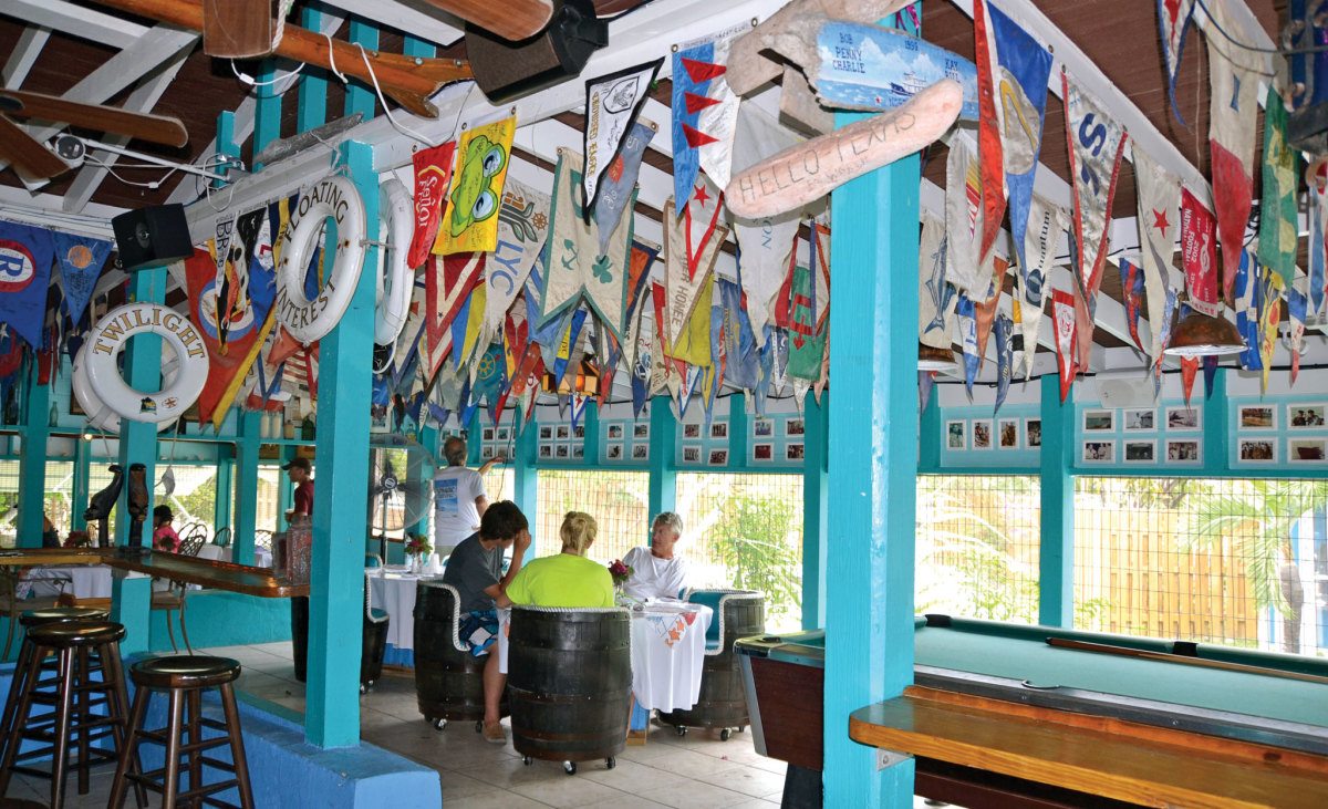 Relaxing at the Staniel Cay Yacht Club