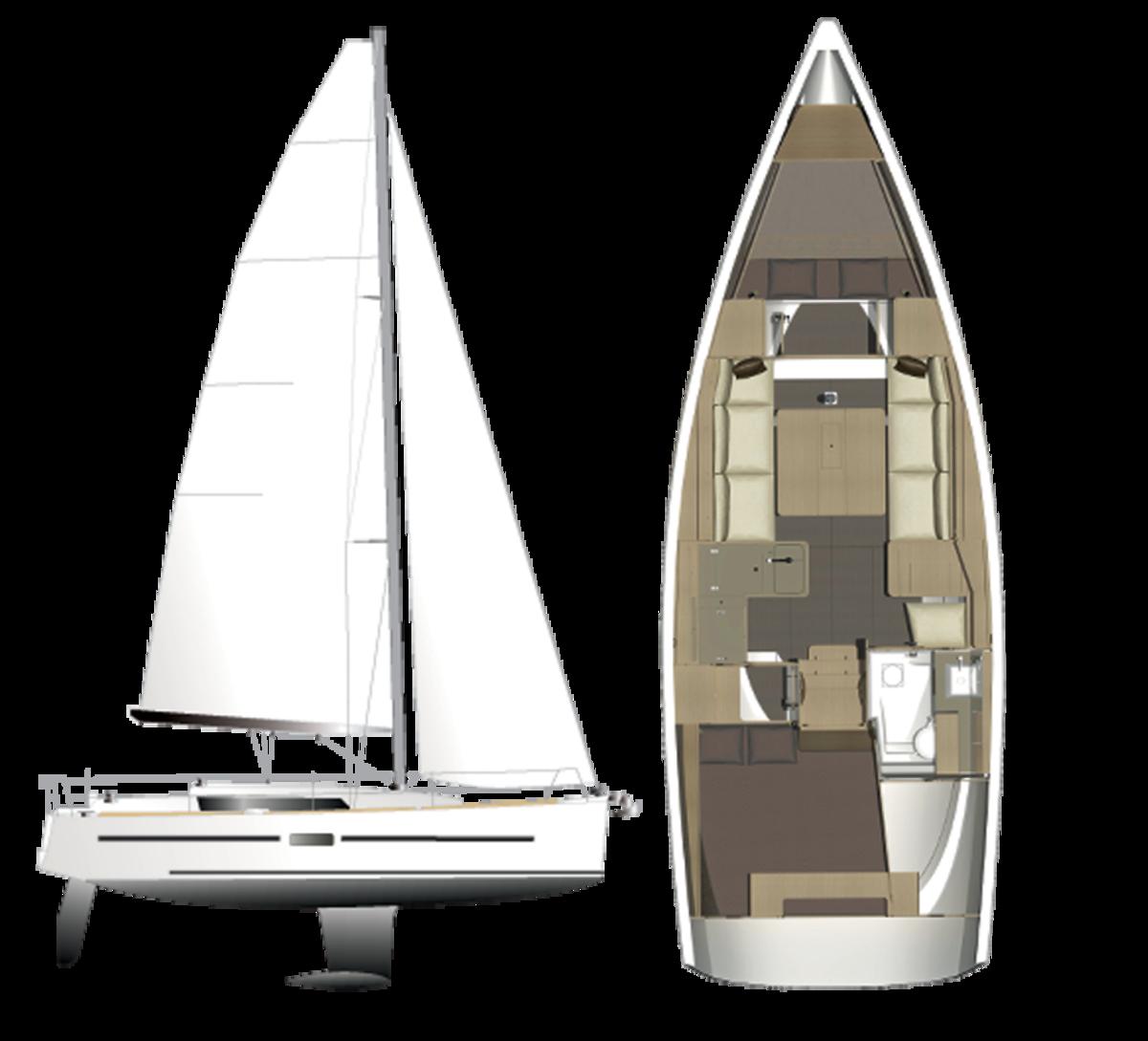 Dufour-350-Sailplan