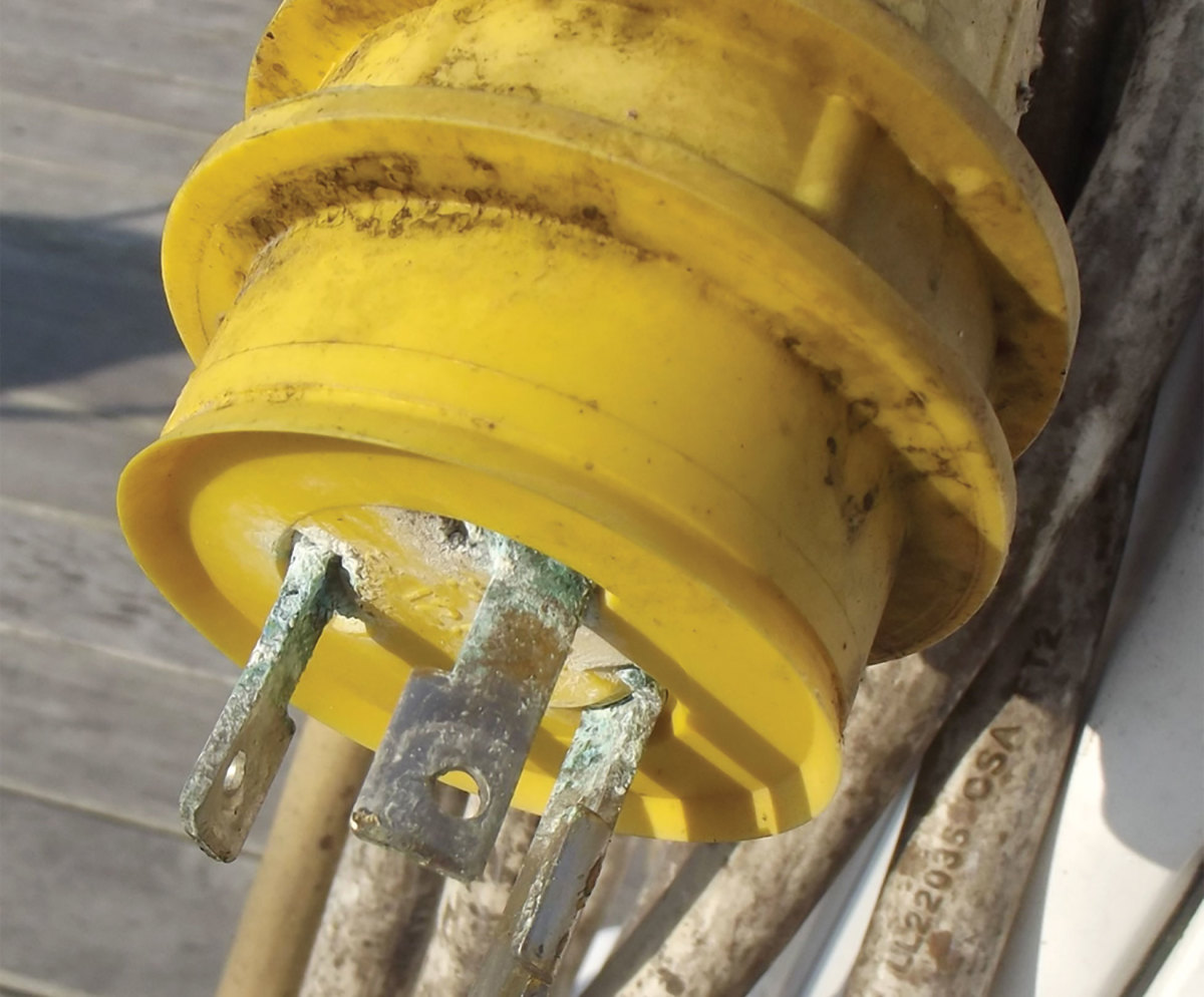 Photo 3. Corrosion leads to resistance, which creates heat