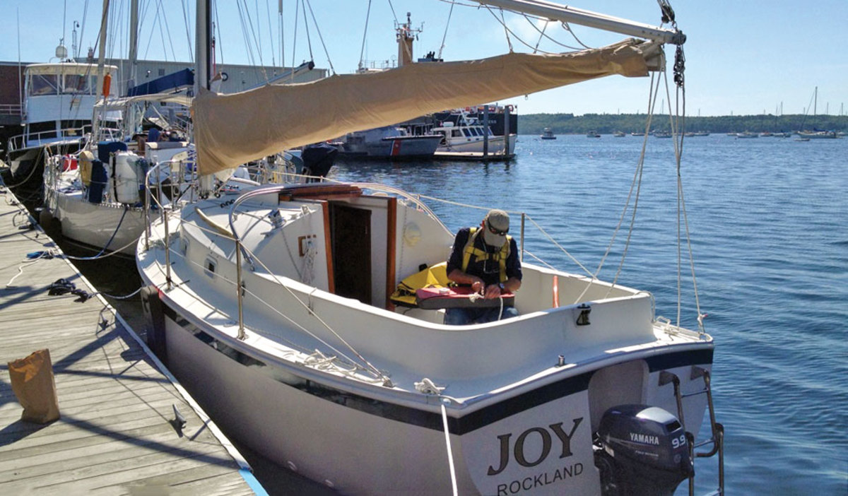 A joyful sailor
