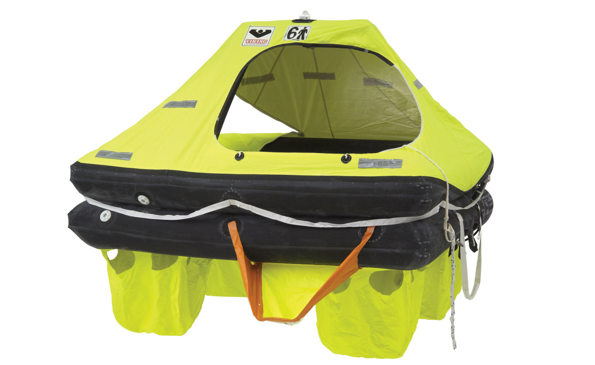 COASTAL LIFERAFT: Close to land you will probably only be in a liferaft for a few hours or a day at the most, so coastal rafts are more lightly built