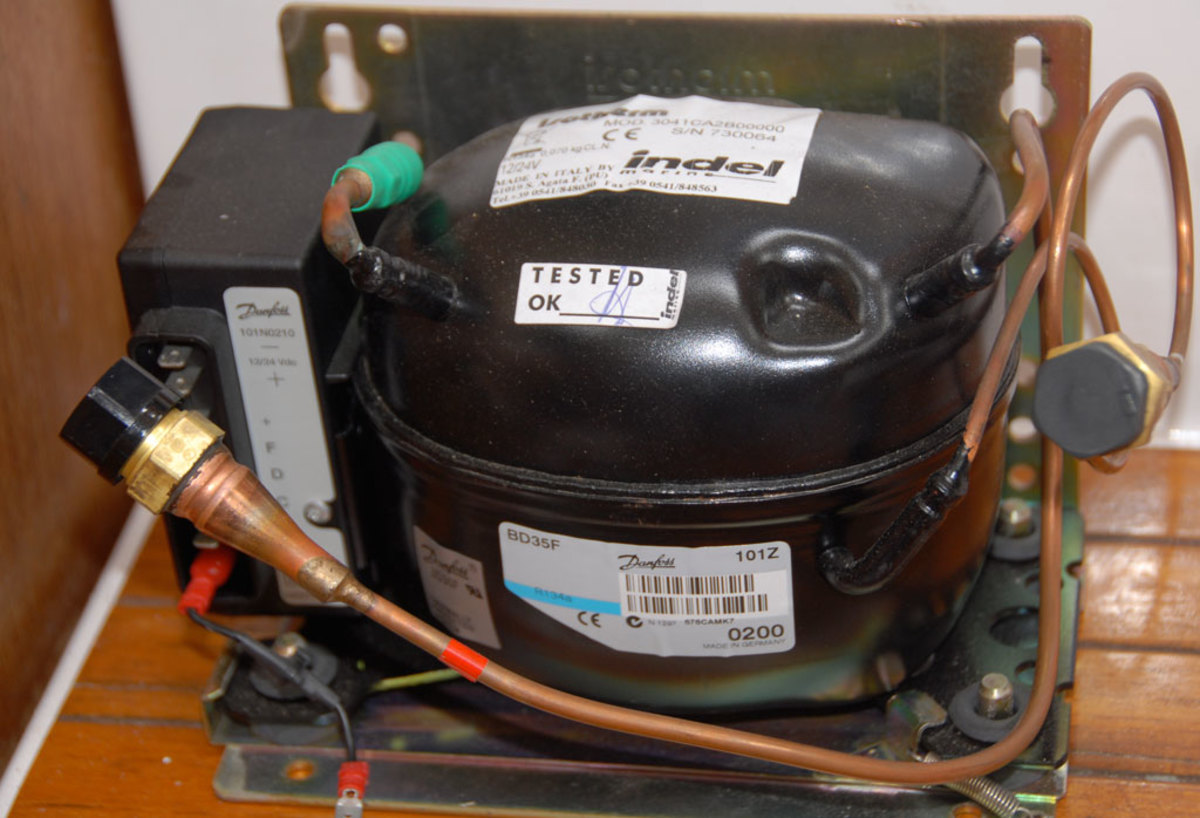 3. Most modern refrigeration systems use the compact and reliable Danfoss compressor—this is the BD35 model