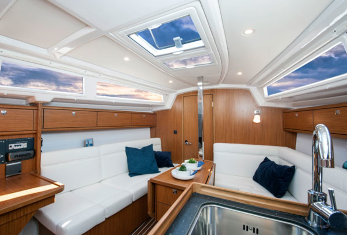 High freeboard, short overhangs and generous beam equate to a roomy interior, and the Cruiser 33 also sails well