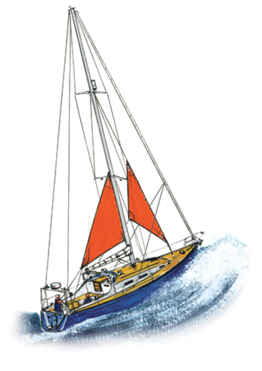 A cutter stay is ideal for setting a storm jib; in tandem with the trysail it concentrates the sailplan's center of effort amidships
