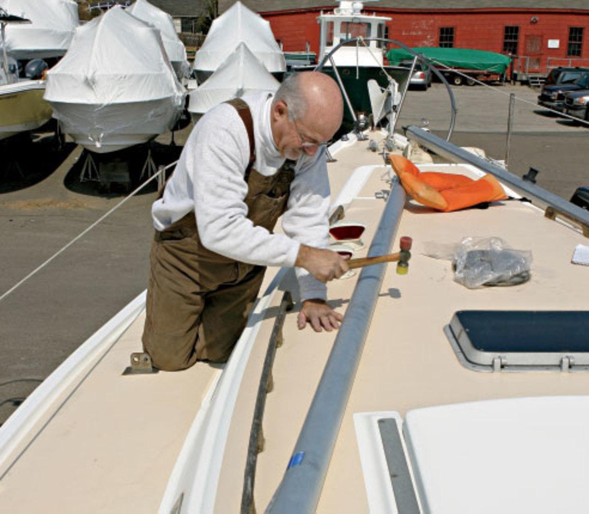Identifying soft spots in a boat's cabintrunk