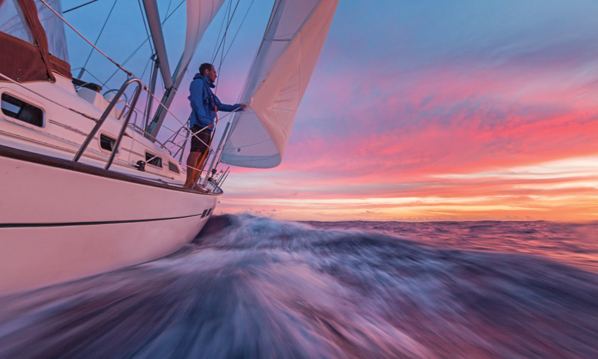 Making the leap to ocean sailing can be daunting, especially on your own boat. Photo by Tor Johnson