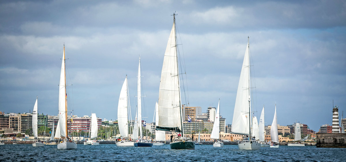 The Cruising Division fleet sets out at the start of the 29th ARC. Photo by WCC/James Mitchell