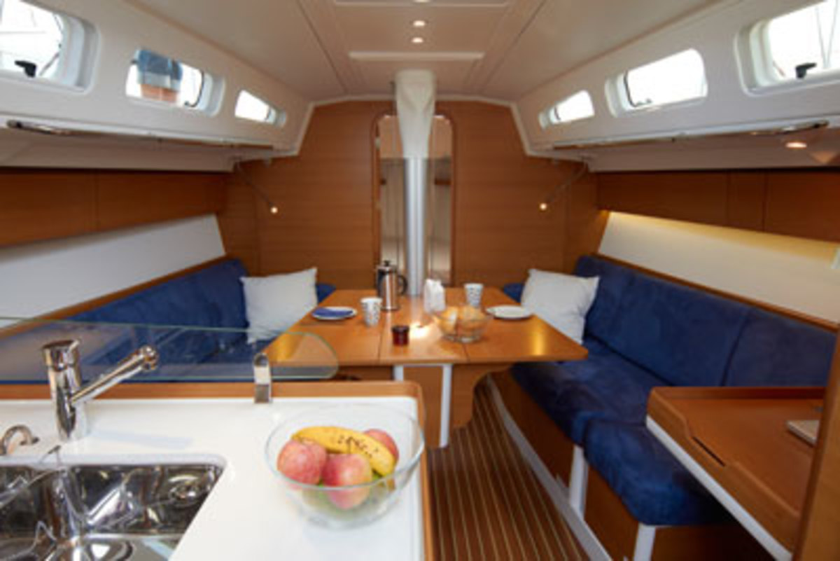 Accommodations work well for both racing and cruising